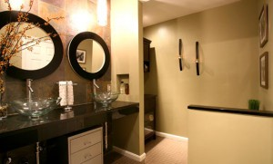 Black Waterfall Bathroom Remodeling in Sterling VA